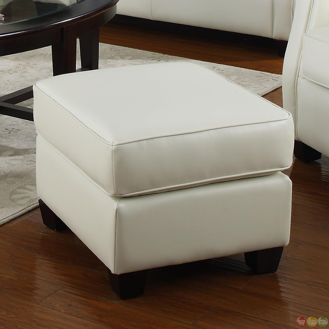 white bonded leather sectional sofa set with light easy to clean fabric kristyna stationary living room