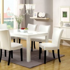 White Dining Room Table And Chairs La Z Boy Lift Chair Controller Lamia I Contemporary Casual Set With