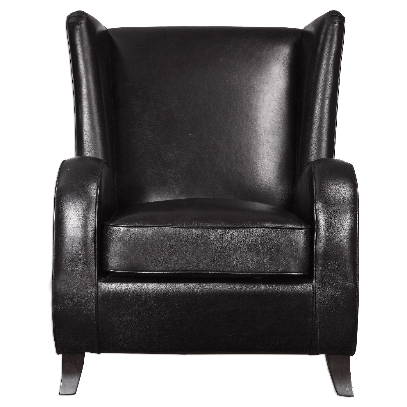 black leather accent chairs wedding chair sashes lane faux with wingback design