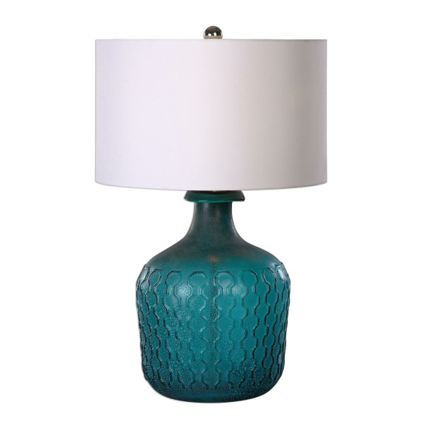 Blue Glass Table Lamp