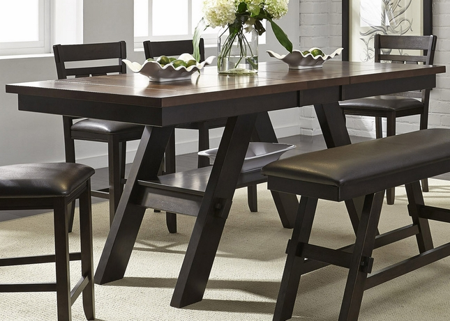 "Lawson 66""-78"" Counter Height Pedestal Dining Table In"