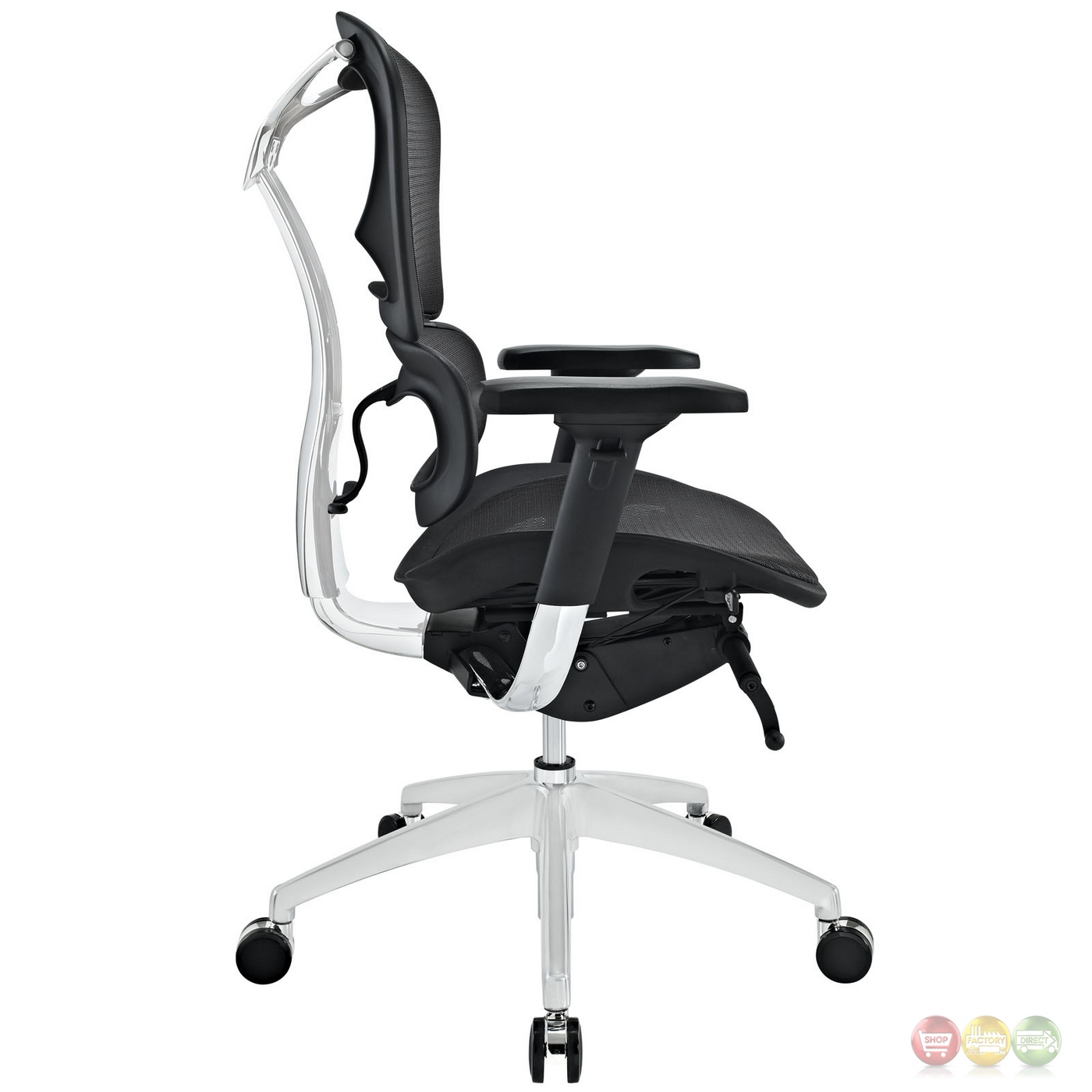 Back Support Office Chair Lift Mid Back Ergonomic Mesh Fabric Office Chair W Lumbar
