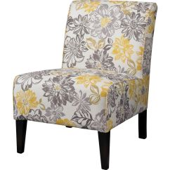 Gray And Yellow Accent Chair Swing Egg The Range Lily Bridey With Grey Floral Pattern