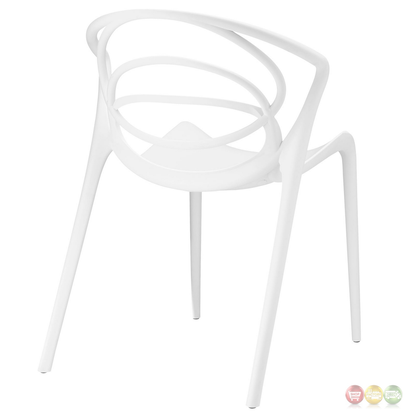 modern plastic chair healthy chairs offices locus molded stylish dining side white