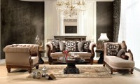 Luxurious Traditional Style Formal Living Room Set HD-462
