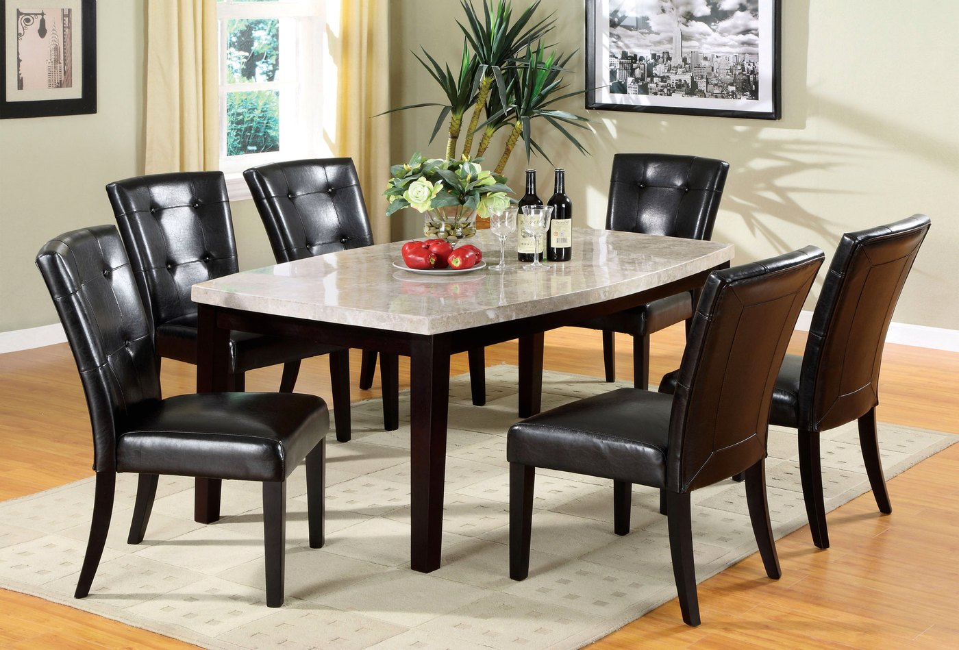 espresso table and chairs swing chair ikman marion i contemporary casual dining set with