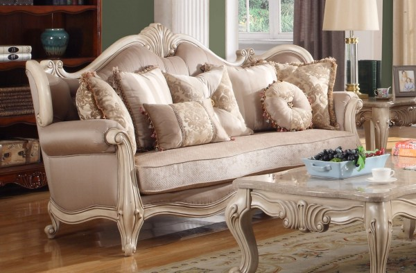 Marseille French Provincial Sofa & Loveseat Set In