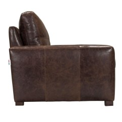 Martino Leather Sofa Dogs Bed Modern Italian Top Grain In Vintage