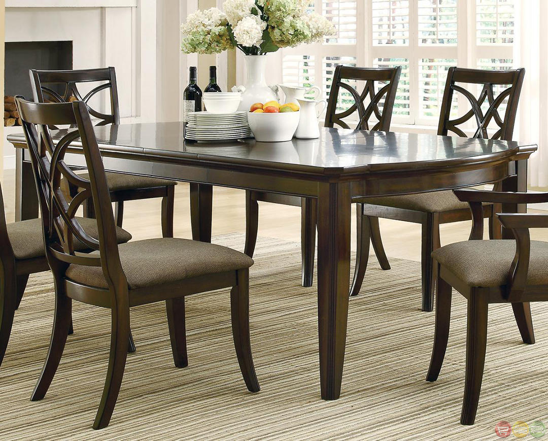 espresso table and chairs kids 2 meredith contemporary 7 piece dining room