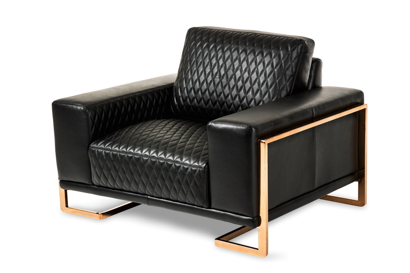 black leather chair and a half kmart kitchen table chairs michael amini mia bella gianna rosegold