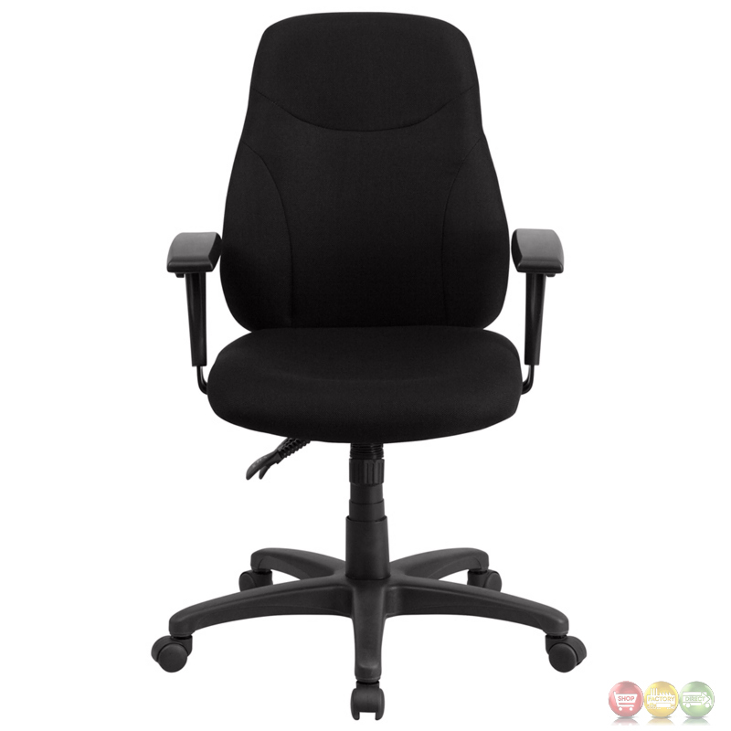 swivel office chair plans country dining room chairs mid-back black fabric ergonomic task w/ adjustable arms