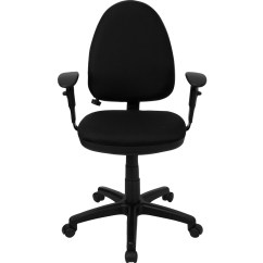 Ergonomic Task Chair Lumbar Support Wingback Accent Blue Mid Back Black Fabric Multi Functional With