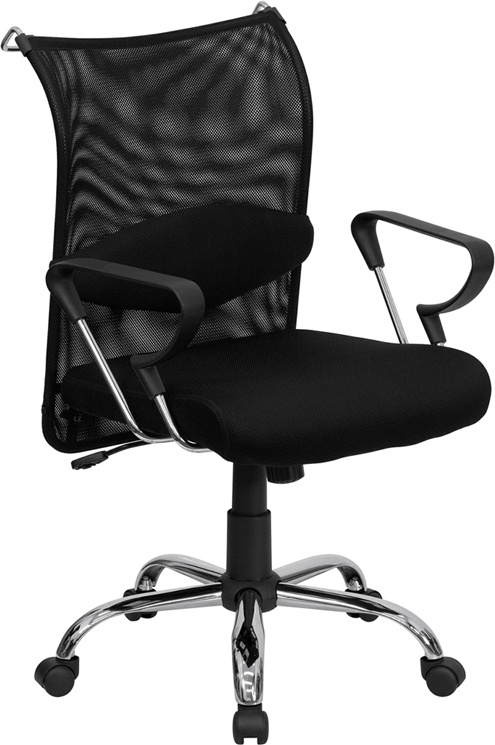 swivel office chair plans wooden lynchburg mid-back black mesh manager's with adjustable lumbar support
