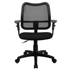 Seat Covers For Chairs With Arms Antique Barber Sale Mid Back Mesh Task Chair Black Fabric And