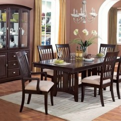 Silver Metal And Wood Dining Chairs Big Tall Office Desk Monaco Cappuccino Finish Casual Room Set