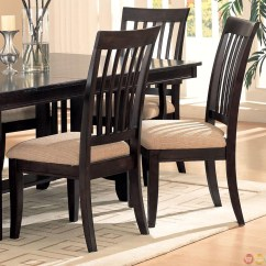 Chair Design Restaurant Makeup Chairs For Professional Artists Monaco Cappuccino Finish Casual Dining Room Set
