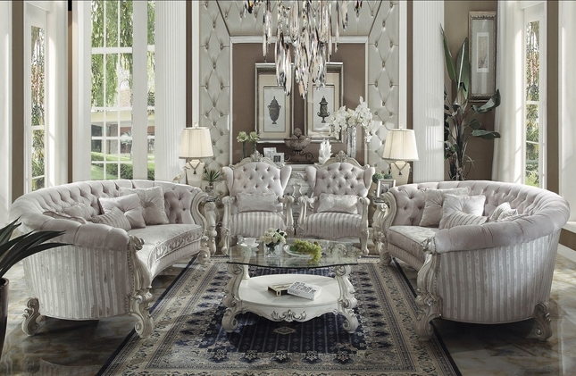 gray fabric sofa set scotch and cape town versailles button tufted ivory velvet bone white finish ...