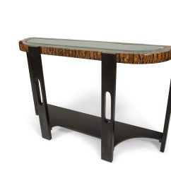 Granite Top Sofa Table Innovation Living Bed Montecristo Transitional Curved With Stone And