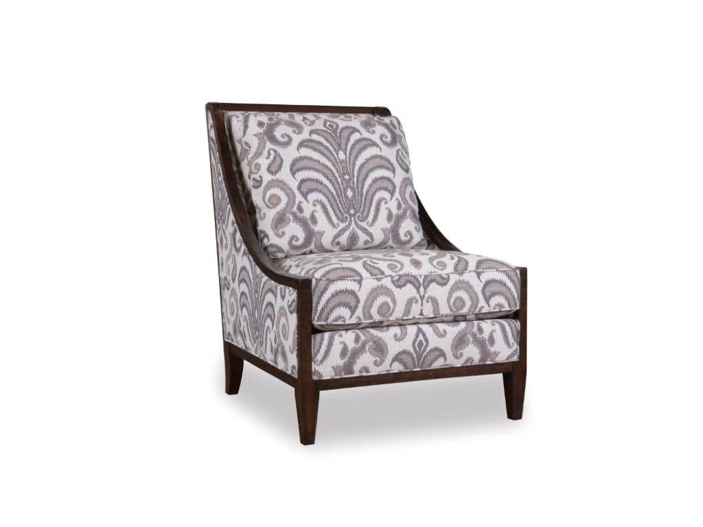 wood frame accent chairs 2 person chair morgan charcoal transitional