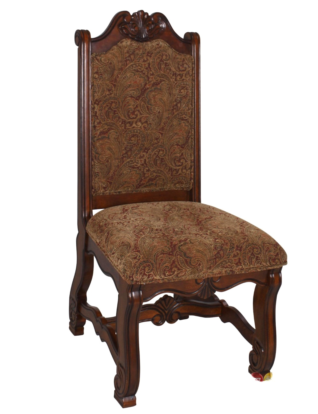 Upholstered Side Chairs Neo Renaissance Traditional Formal Dining Upholstered Side