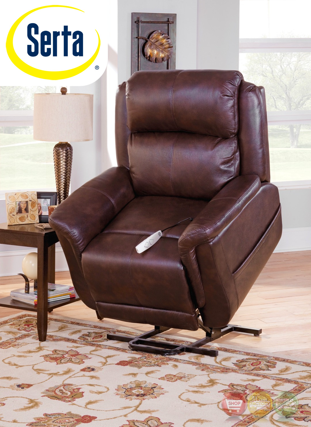 the chair outlet french bedroom ebay serta comfortlift norwhich brown wall hugger reclining