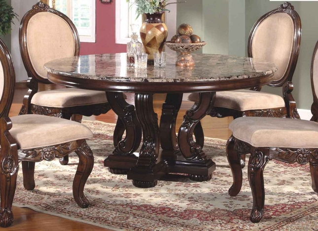 Ornate 60 Quot Marble Topped Round Dining Table With Antique
