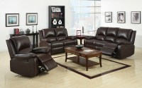 Oxford Traditional Rustic Dark Brown Living Room Set with ...