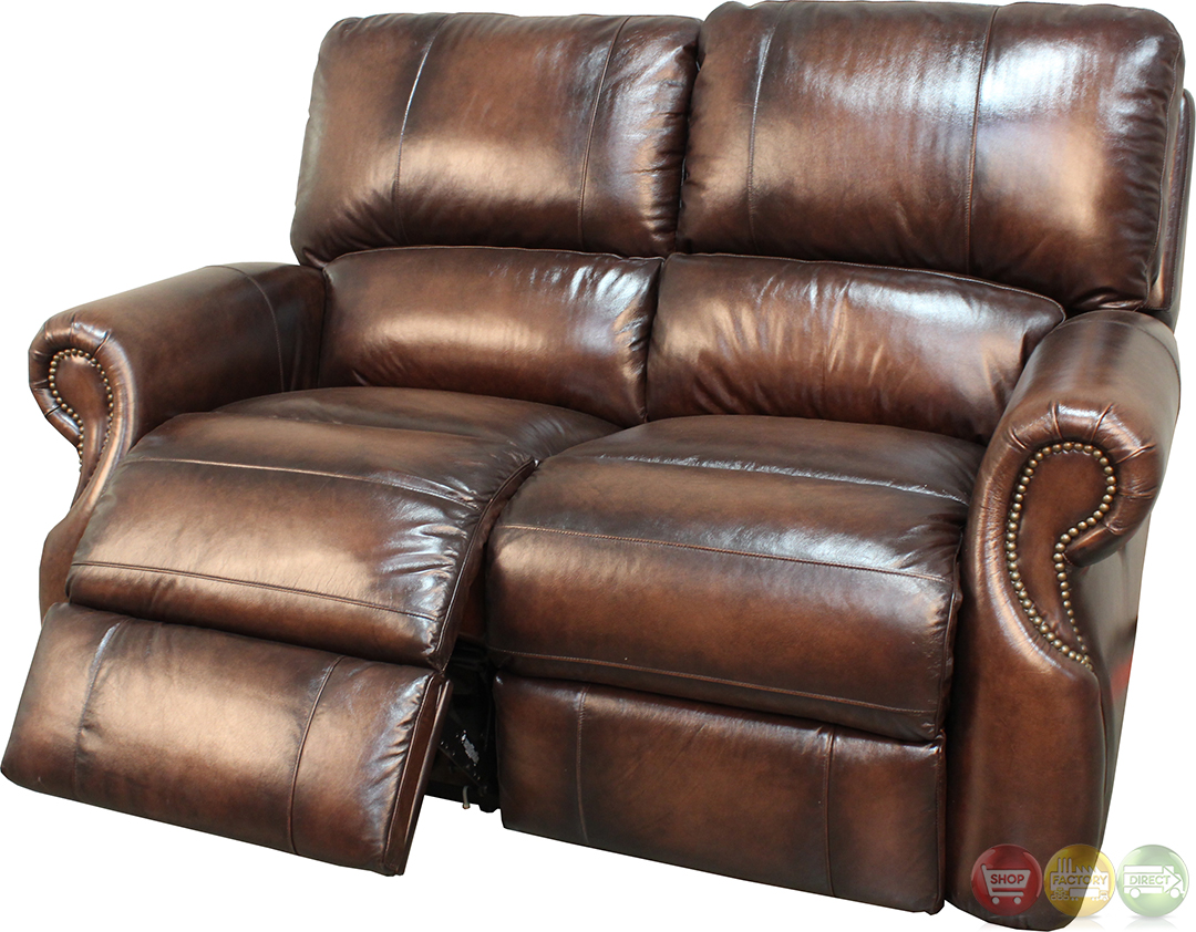 parker 2 piece sofa and loveseat in brown bright blue bed living hawthorne leather reclining set