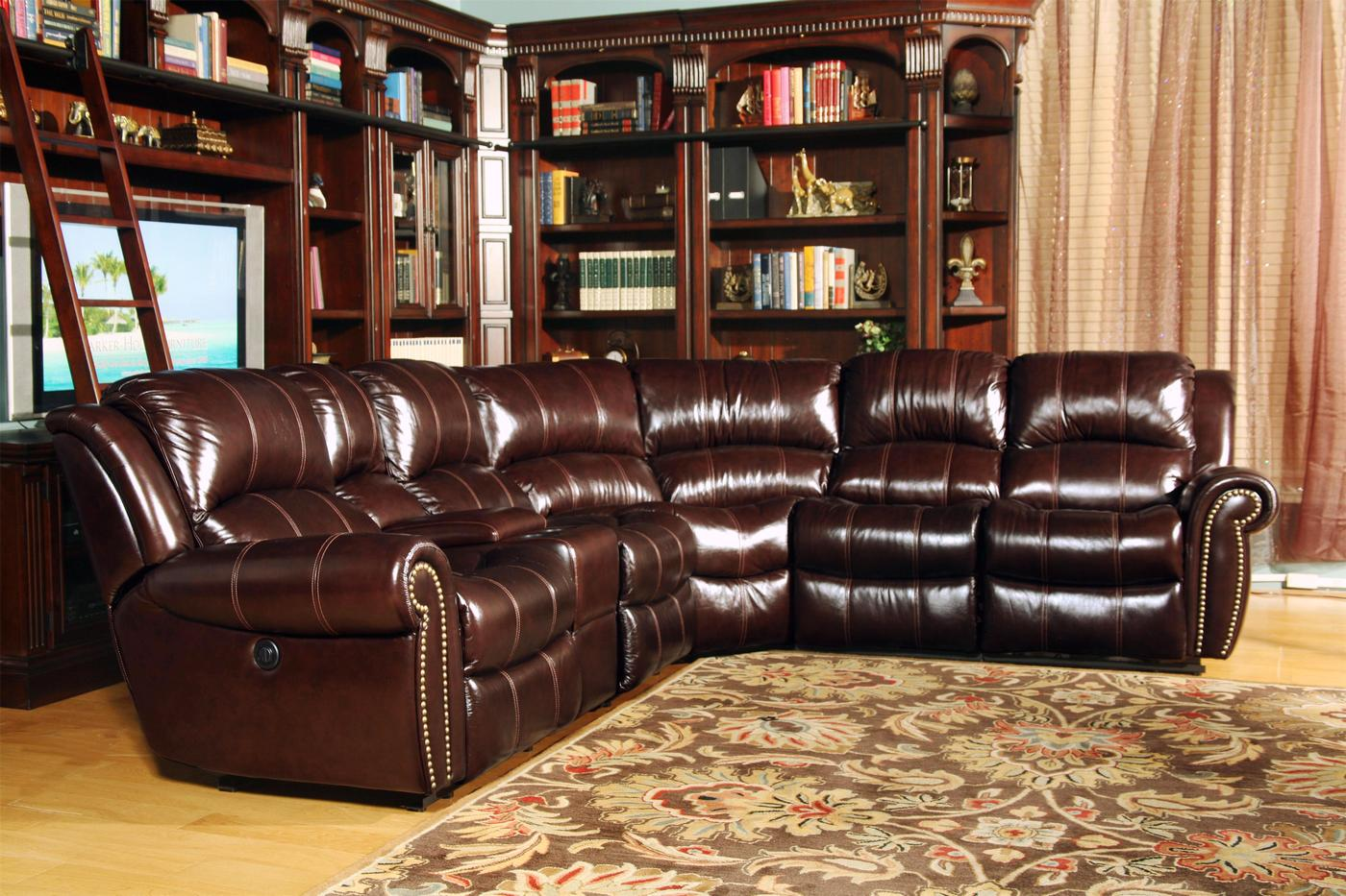 parker 2 piece sofa and loveseat in brown bed bath beyond canada covers living poseidon dark top grain leather