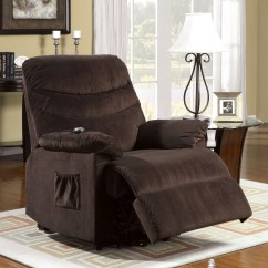 Chair Stand Power Tufted Lounge Perth Cocoa Brown Recliner With Assist