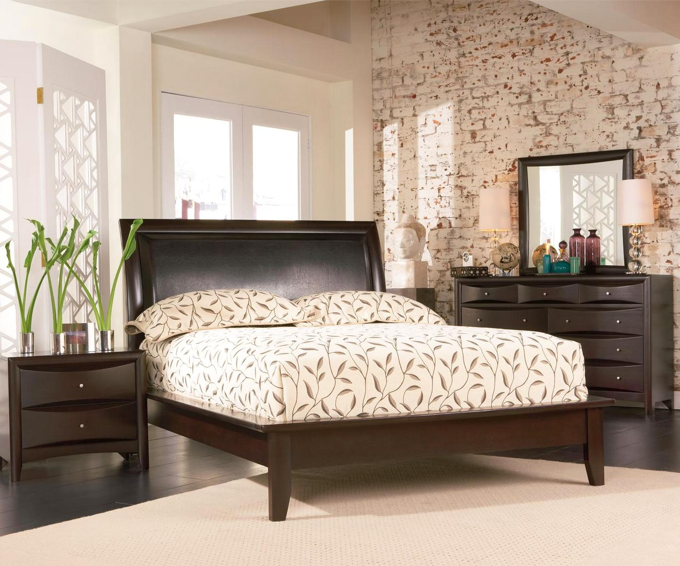 Phoenix Cappuccino Finish Platform Bedroom Set CoasterFree ShippingShopFactoryDirectcom