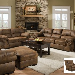 Living Room Sofa And Loveseat Sofas Couches 2 Pinto Tobacco Finish Microfiber