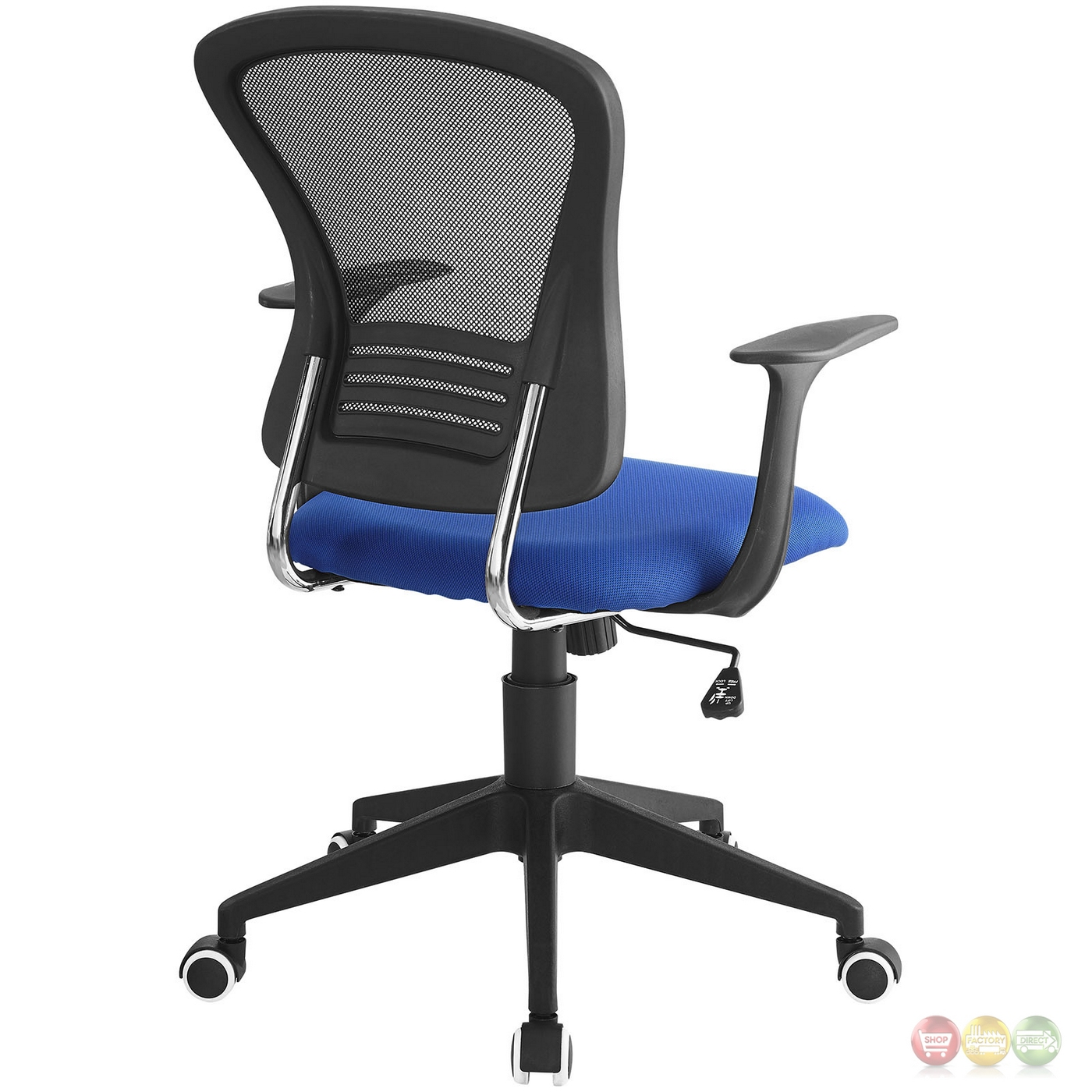 Poise Modern Ergonomic Mesh Back Office Chair With Lumbar