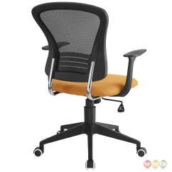 Office Chair Orange Cushions For Metal Folding Chairs Poise Modern Ergonomic Mesh Back With Lumbar