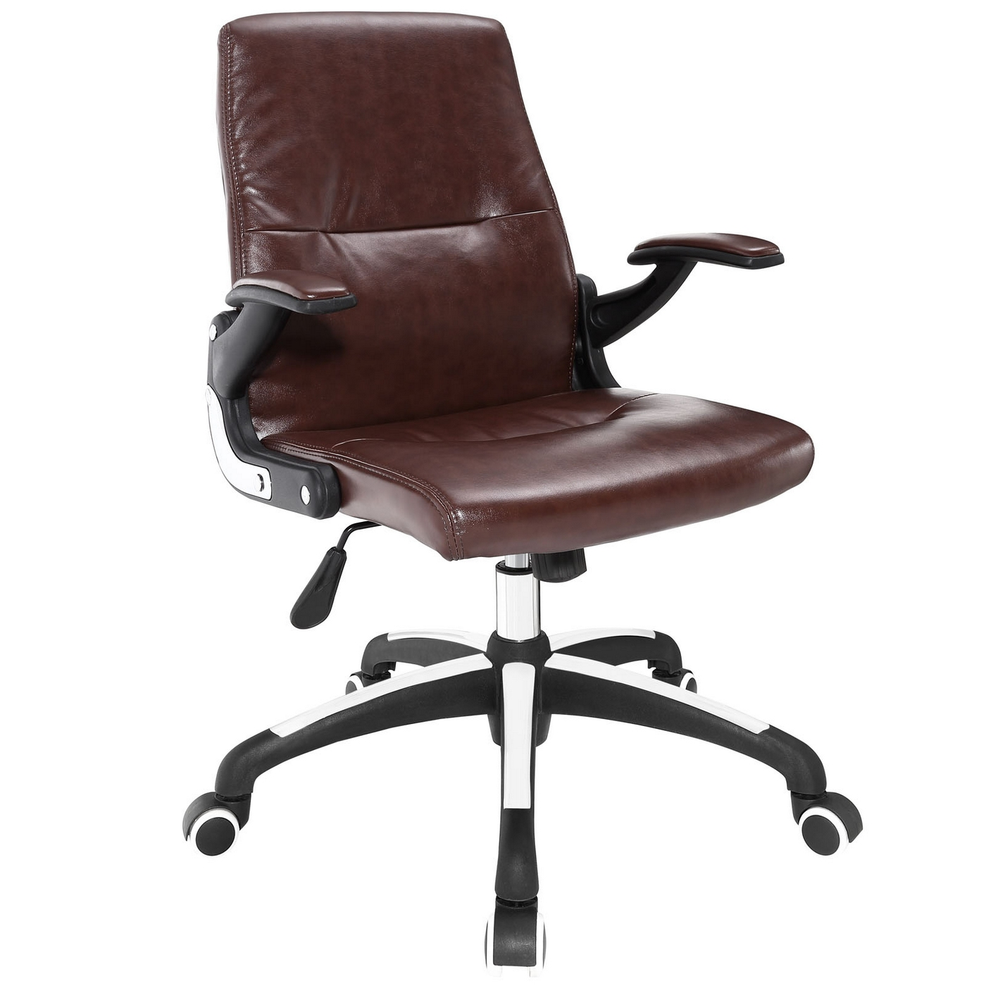 upholstered computer chair overstuffed chairs with ottomans premier modern high back vinyl office