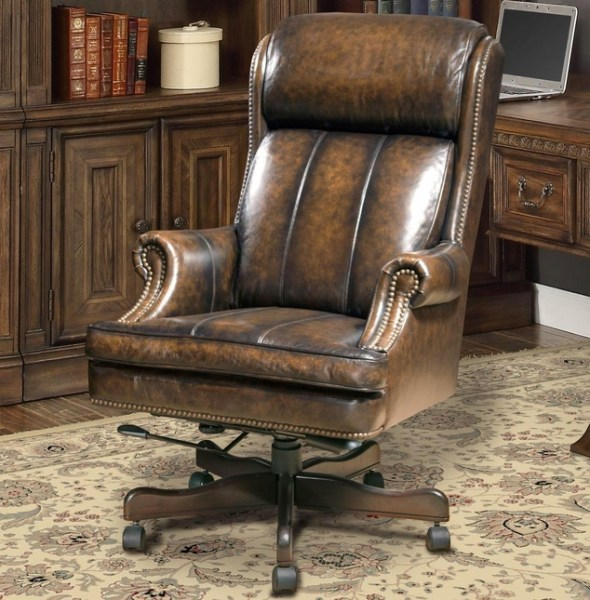 traditional leather office chair Prestige Traditional Brown Genuine Leather Office Desk