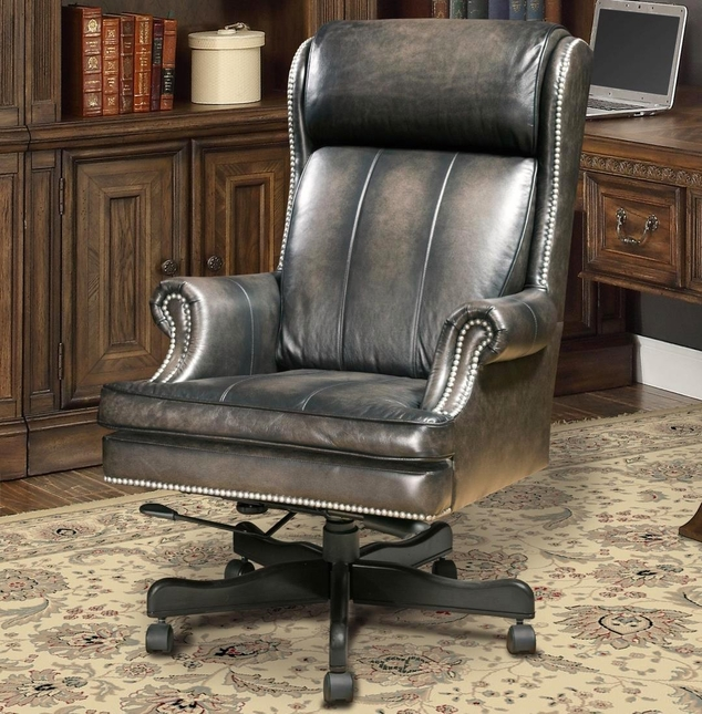 Prestige Traditional Genuine Leather Office Desk Chair Parker House DC105SM