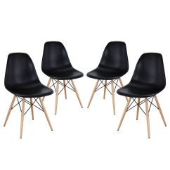 Modern Plastic Chair Tall High Pyramid Molded Dining Side Chairs With