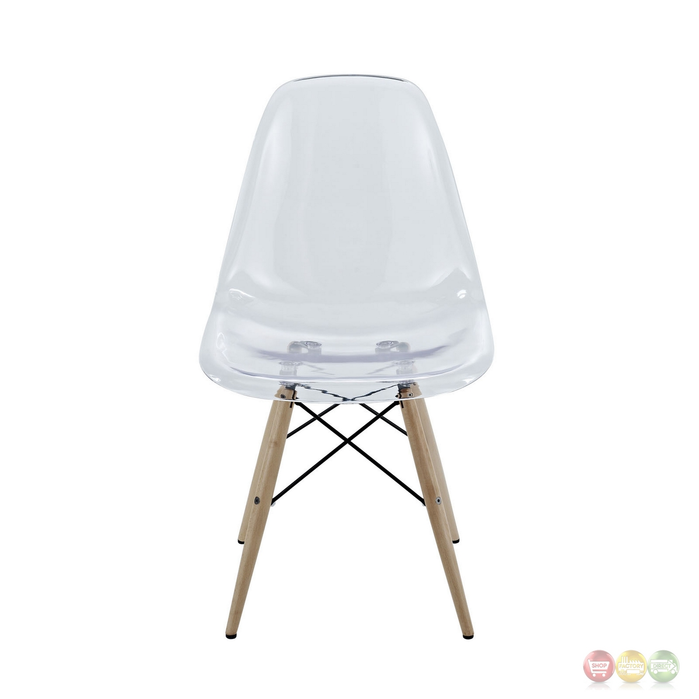 Plastic Clear Chair Pyramid Modern Molded Plastic Transparent Dining Side