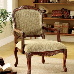 Antique Accent Chairs Wheelchair Loan Quintus Oak Chair With Padded Fabric Seat