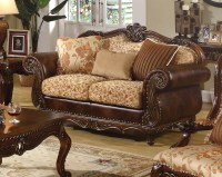 Radbourne Traditional Brown & Floral Sofa & Loveseat in ...