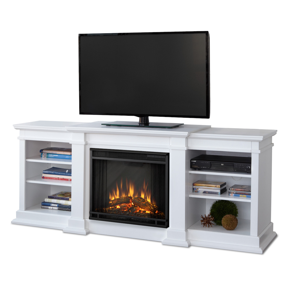 Real Flame Fresno Electric Fireplace In White