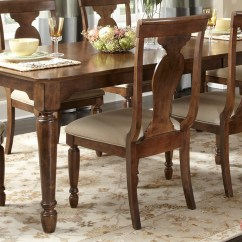 Steve Silver Dining Chairs Salon Waiting Rustic Cherry Rectangular Table Formal Room Set