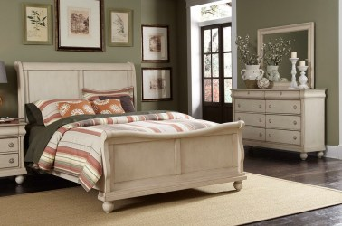 bedroom sleigh furniture rustic traditions whitewash ii bed