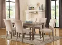 "Sanders Reclaimed Grey 5-pc 60"" Dining Set W/ Weathered ..."