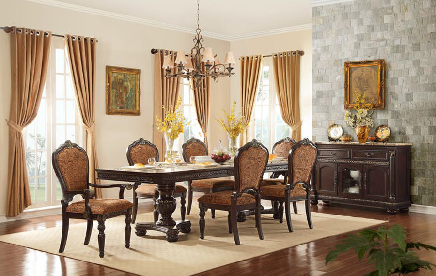Cleopatra Ornate Traditional Cherry Formal Dining Room