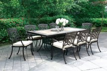 "Sanibel Casual 7-pc Mosaic Outdoor 85.5"" Dining Table Set"