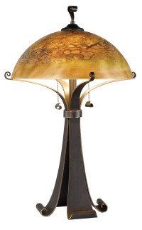 Santa Fe Caramel Pull Chain Switch Metal Table Lamp