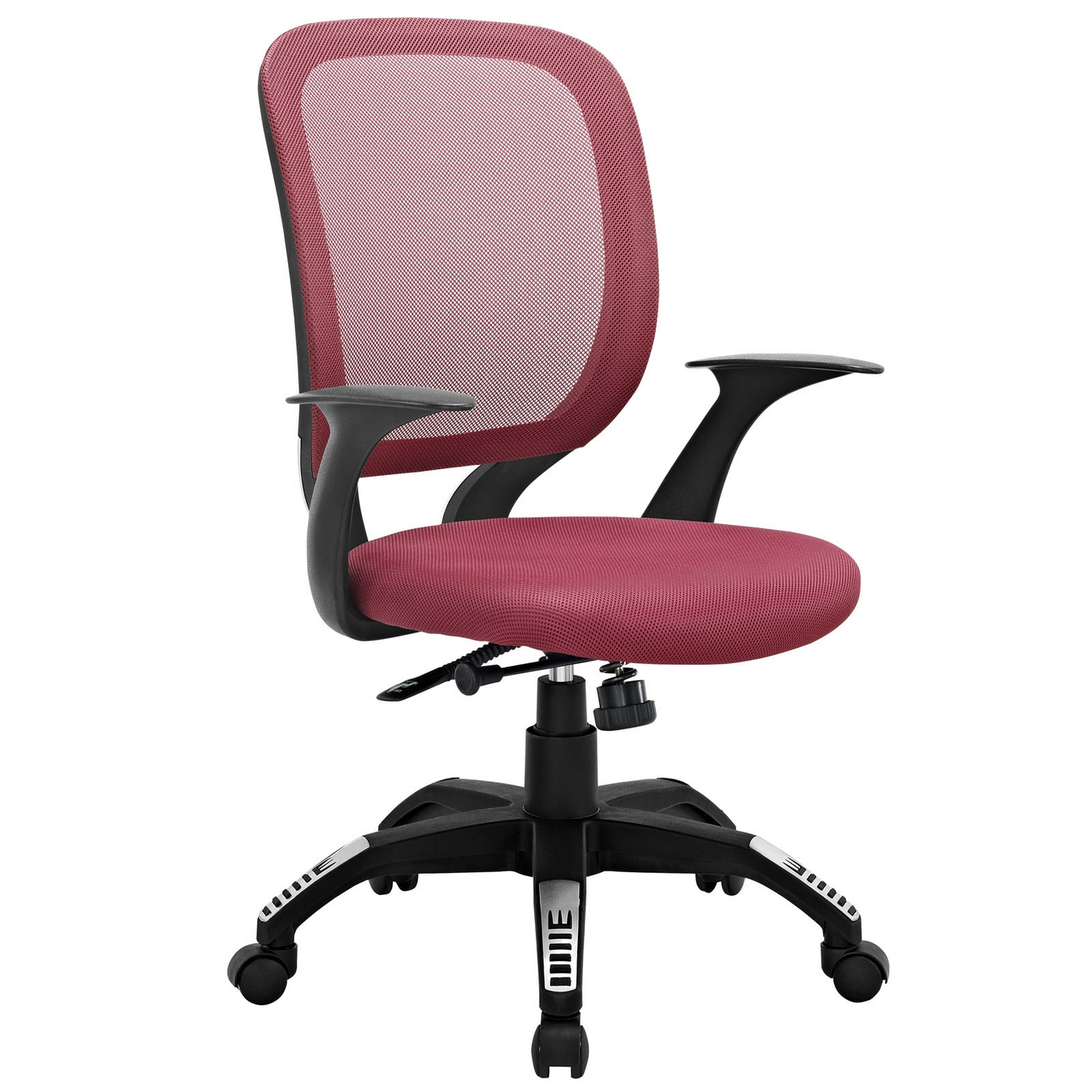 Burgundy Office Chair Scope Modern Mesh Back Office Chair W Adjustable Height