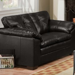 Brooklyn Bonded Leather Lounger Chair And Ottoman Order Office Online Sebring Back Black Sofa Loveseat Set